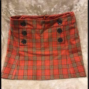 Gap, Women's Size: 0, Wool, Lined,Plaid Mini Skirt